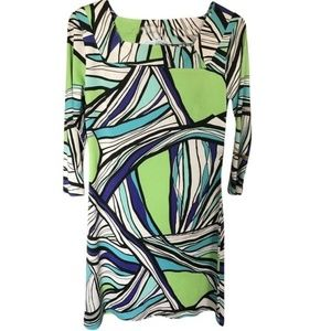 EMILIO PUCCI Multi Color Green Dress Small